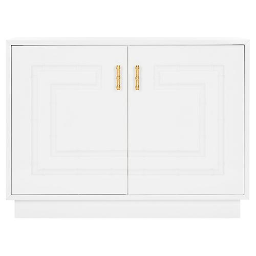 Ruben Cabinet, White/Gold