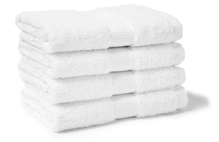 S/4 Candido Washcloths, White