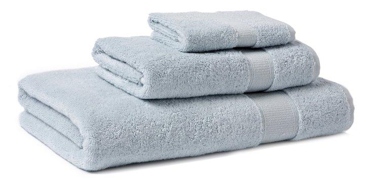 3-Pc Candido Towel Set, Ice Blue