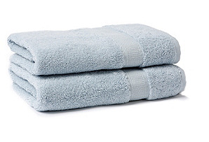 S/2 Candido Hand Towels, Ice Blue