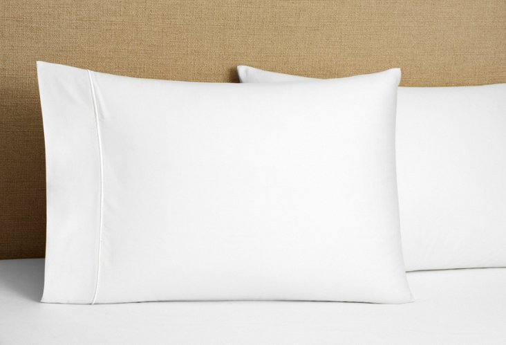 S/2 Regency Solid Pillowcases, White