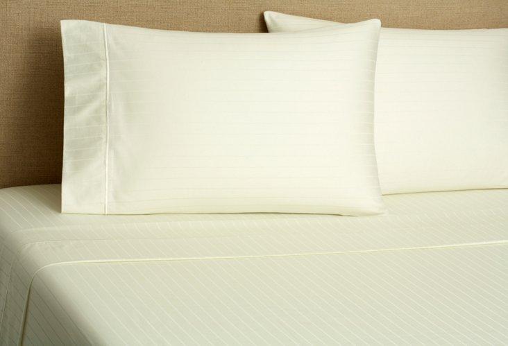 Kg Regency Stripe Sheet Set, Ivory