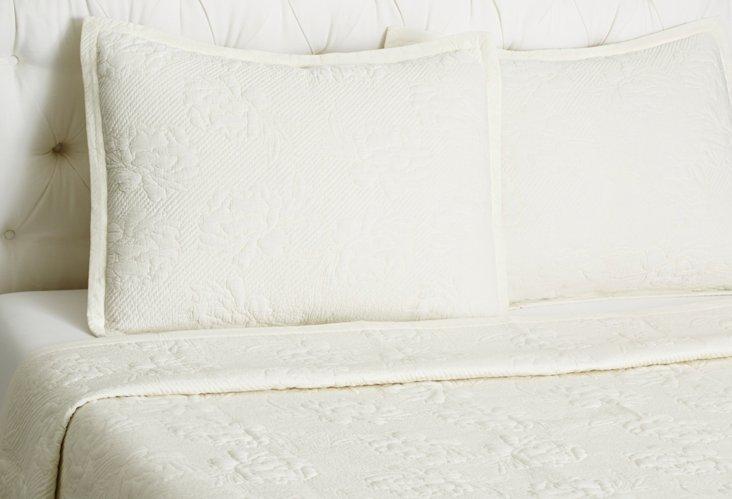 Brenna Quilt Set, Ivory