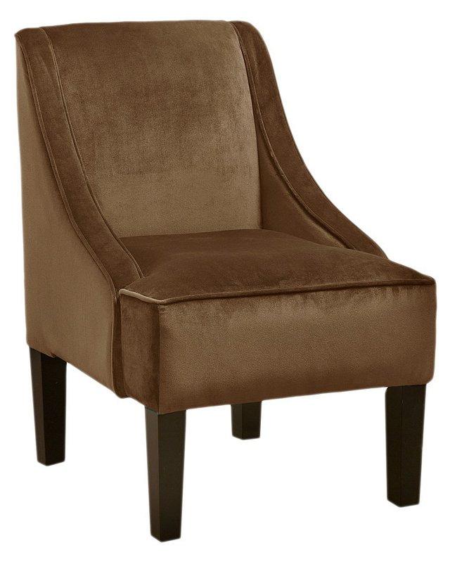 Fletcher Swoop-Arm Chair, Moccasin