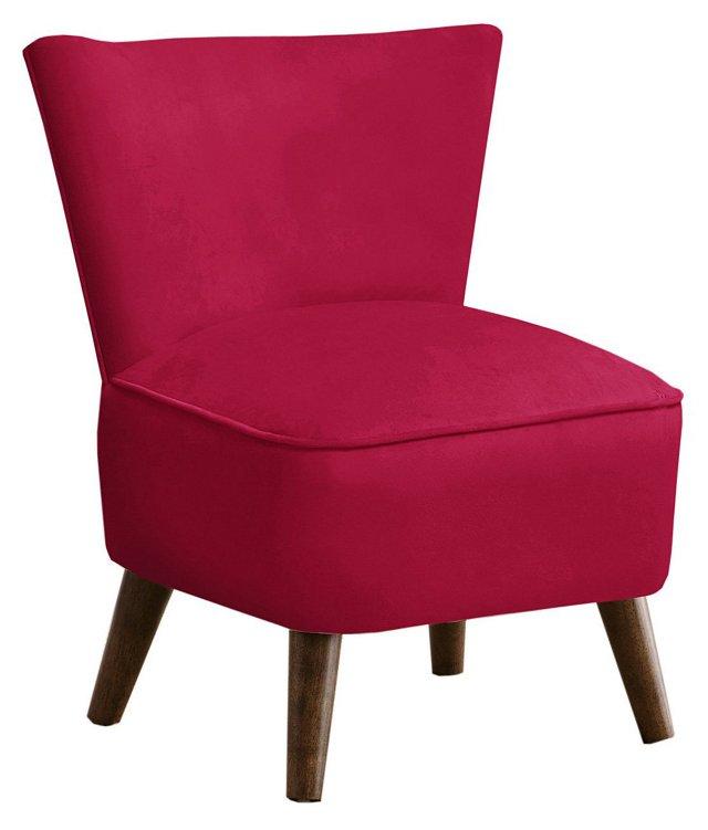Barnes Modern Chair, Raspberry