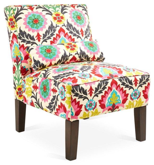 Bergman Armless Chair, Multi