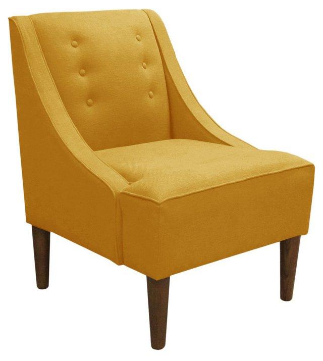 McCarthy Swoop-Armchair, Yellow