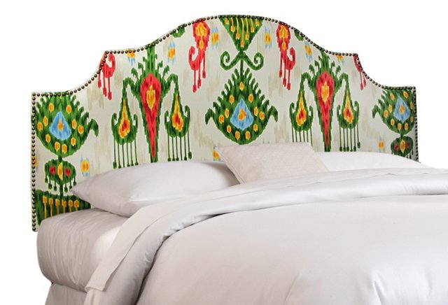 Miller Cotton Headboard, Green/Multi