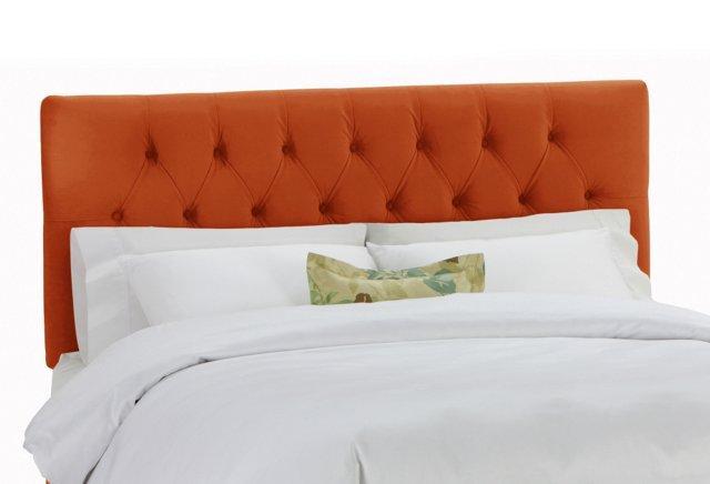 Thea Tufted Headboard, Orange
