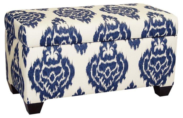 """Hayworth 38"""" Storage Bench, Sapphire"""