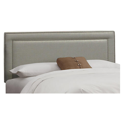 Bardot Headboard, Dove Gray Linen