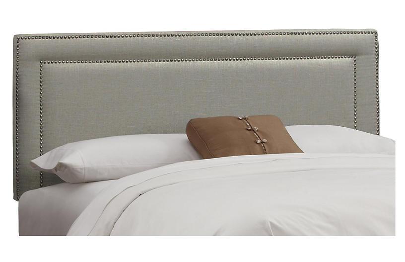Bardot Headboard, Dove Gray Linen