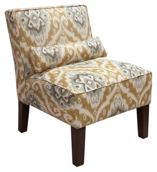Bergman Armless Chair, Ochre/Multi