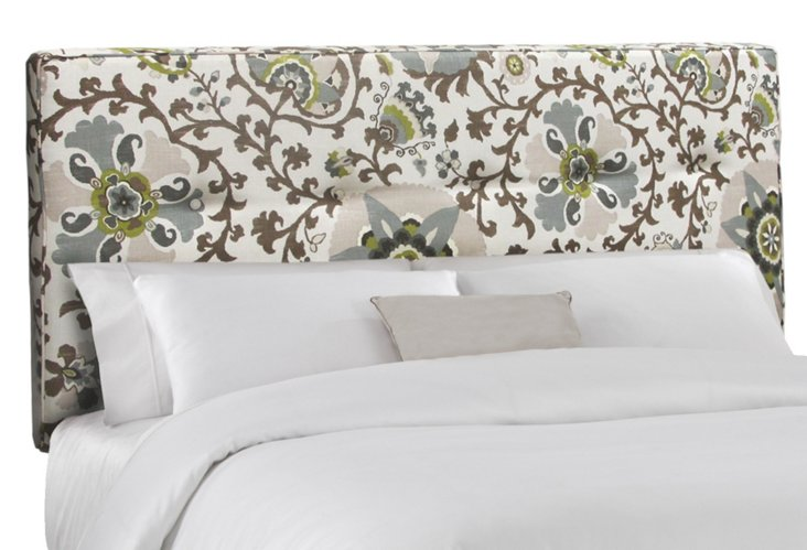 Amy Upholstered Headboard, Ecru
