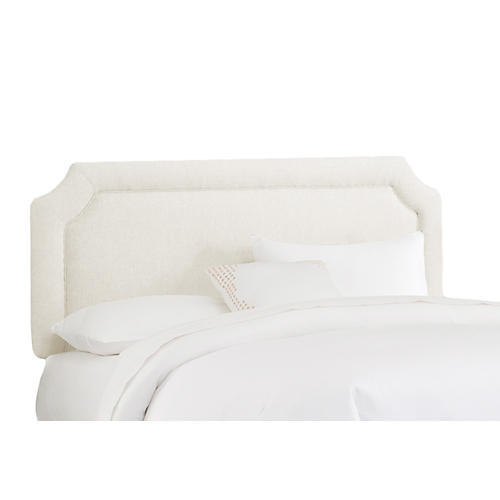 Morgan Headboard, Talc Linen