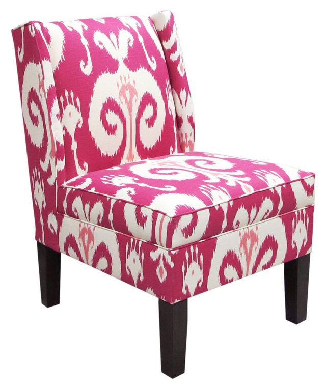 Porter Wingback Chair, Raspberry