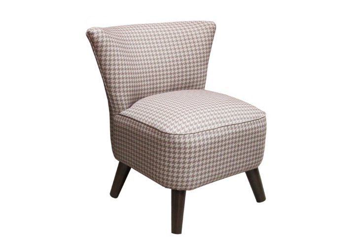 Barnes Chair, Taupe/Ivory