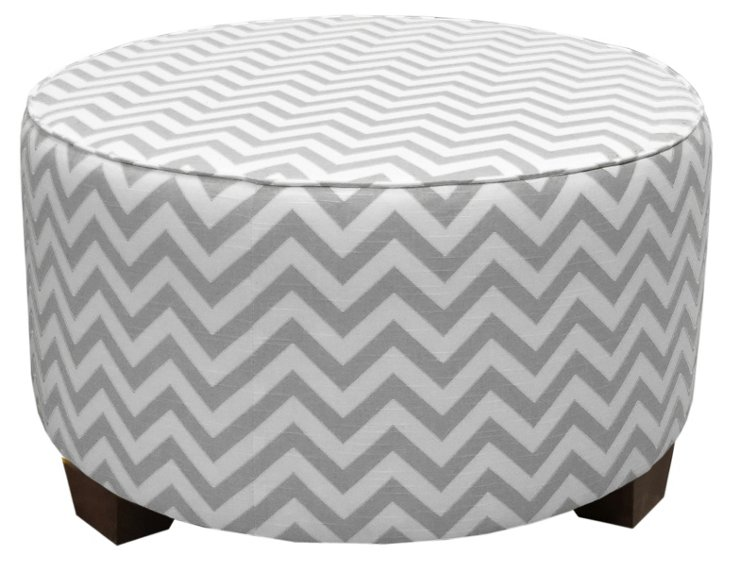 "Hooper 31"" Cocktail Ottoman, Gray"