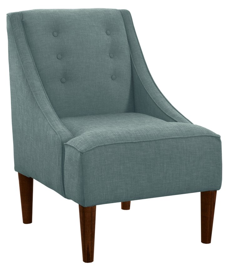 McCarthy Swoop-Arm Chair, Slate Blue