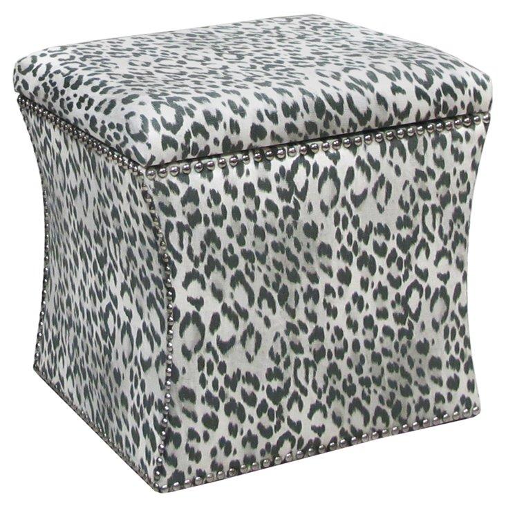 Merritt Storage Ottoman, Leopard