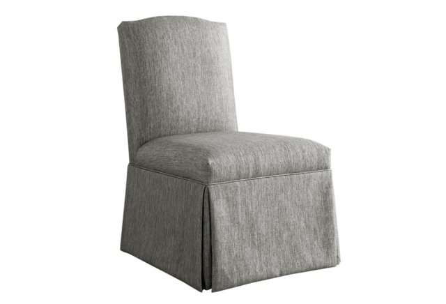 Geiger Skirted Chair, Pewter