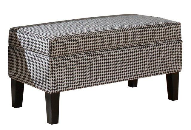 Breene Storage Bench, Black/White
