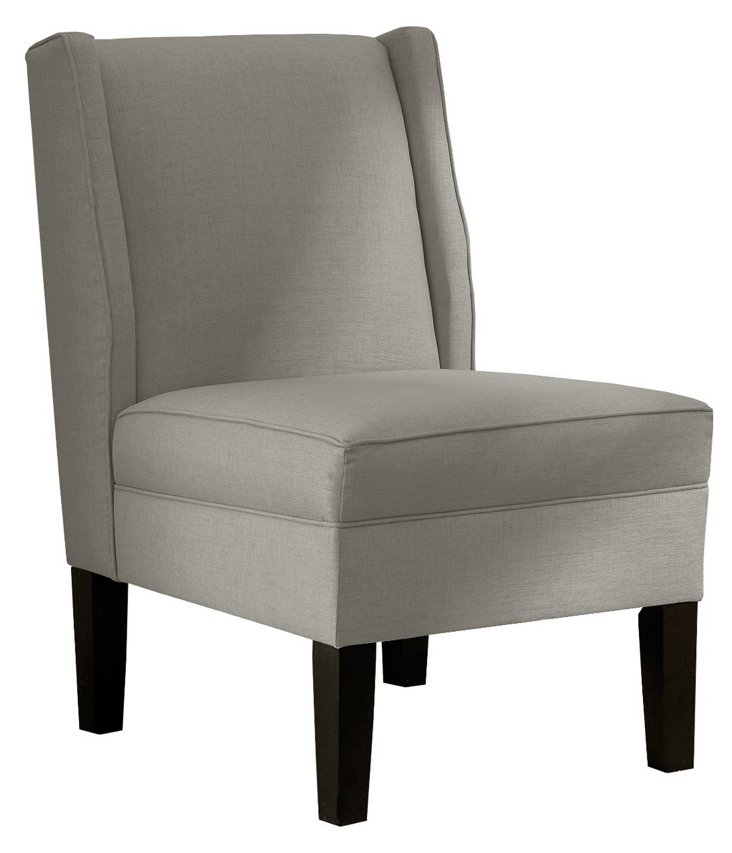 Porter Wingback Chair, Slate