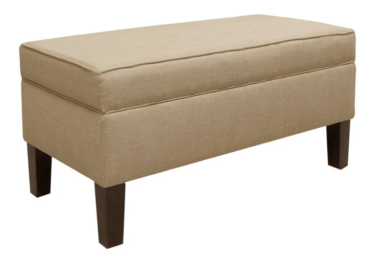Breene Storage Bench, Sand Linen