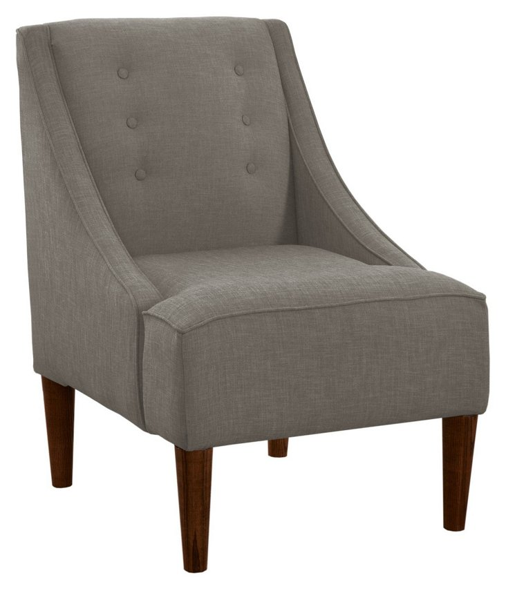McCarthy Chair, Gray Linen