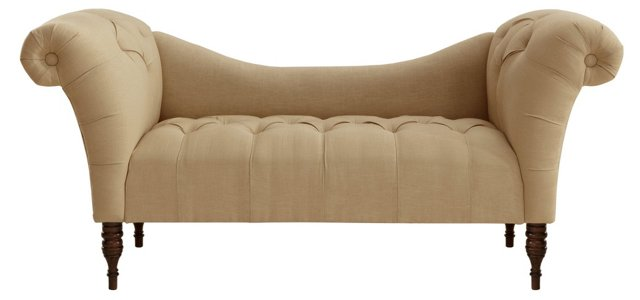 Cameron Tufted Chaise, Sandstone