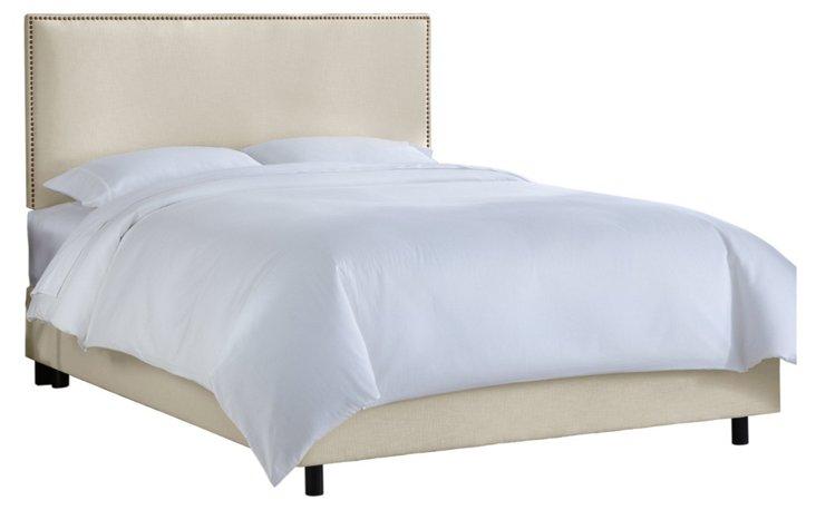 Loren Upholstered Bed, Chalk