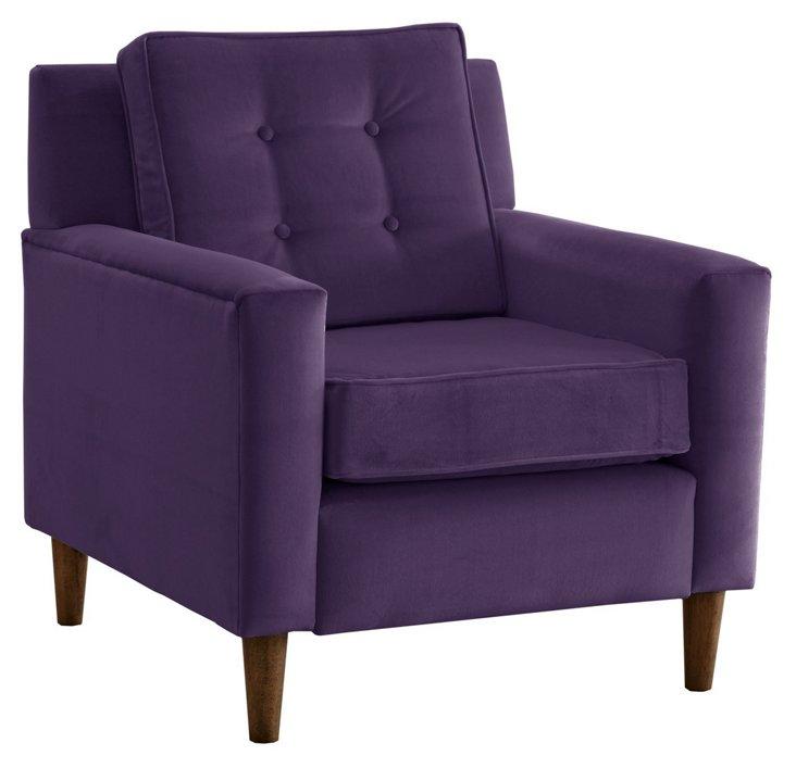 Winston Chair, Violet Velvet
