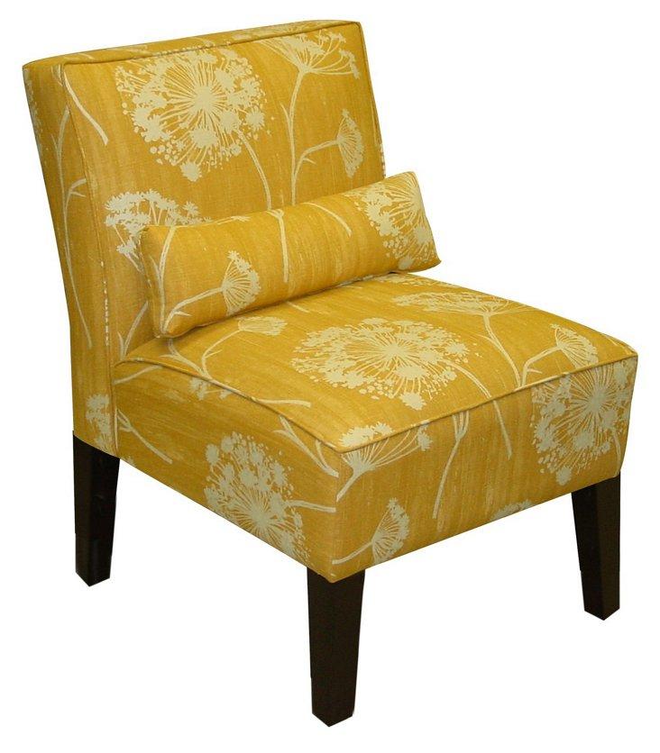 Bergman Armless Chair, Marigold