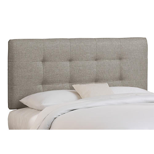 Alice Tufted Headboard, Gray