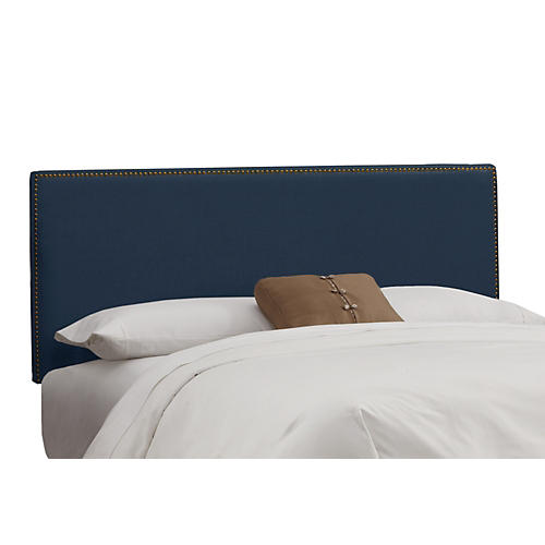 Navy Hannah Headboard, Full