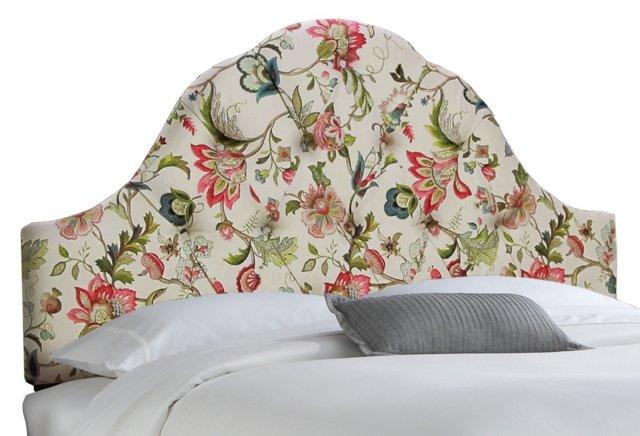 Lorcan High-Arch Headboard, White/Pink
