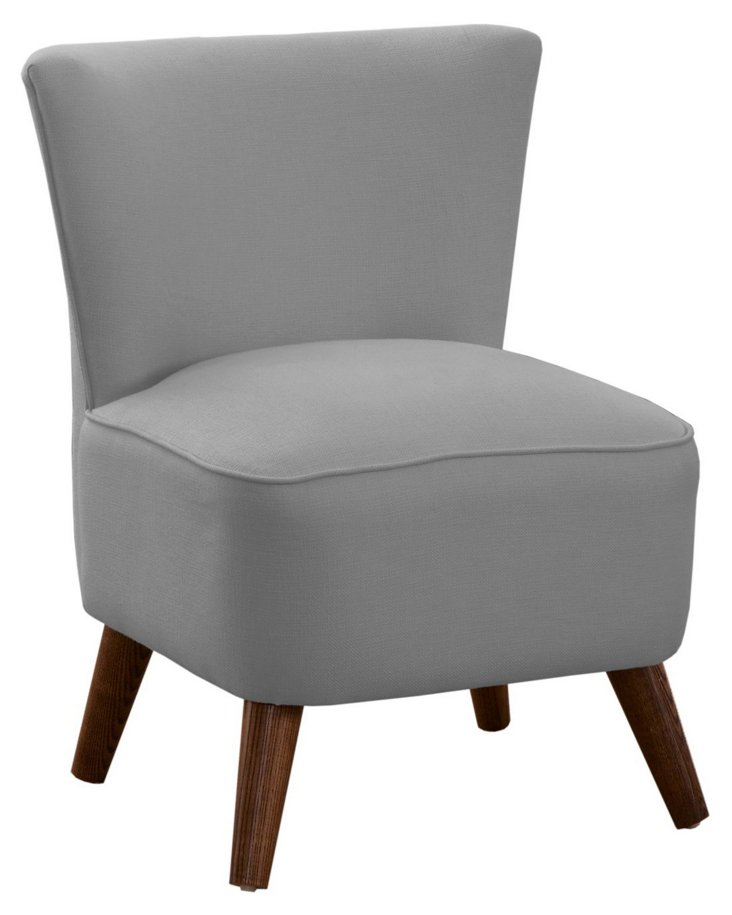 Barnes Modern Chair, Pewter