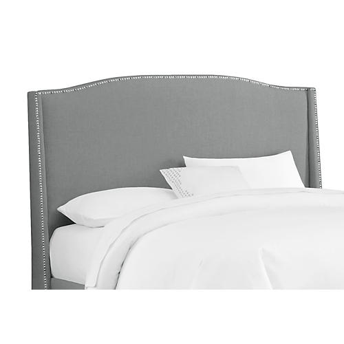Cole Wingback Headboard, Gray Linen