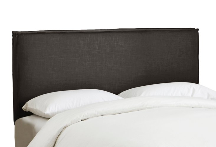 Taylor Slipcover Headboard, Charcoal
