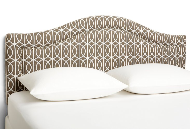 Taupe Arched Headboard, Full
