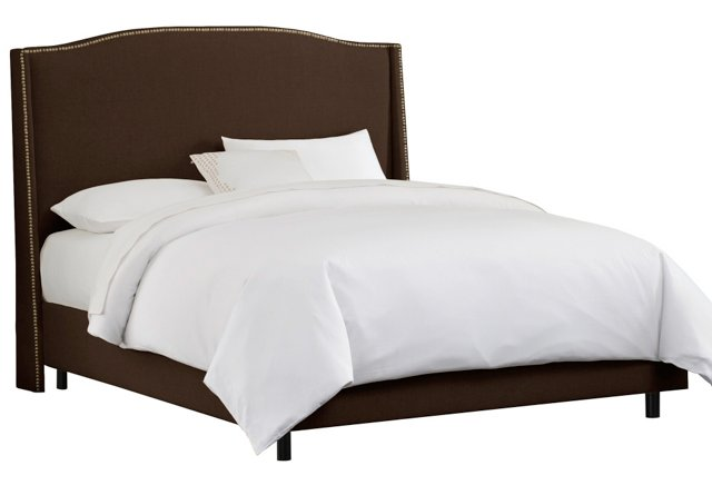Cole Wingback Bed, Chocolate