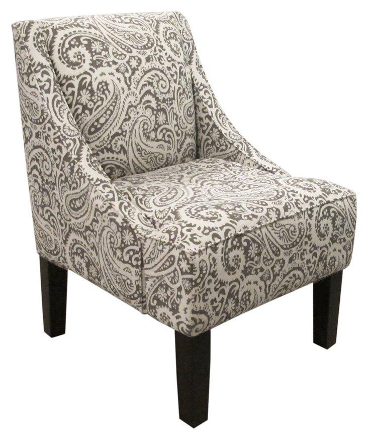 Fletcher Swoop-Arm Chair,  Ash