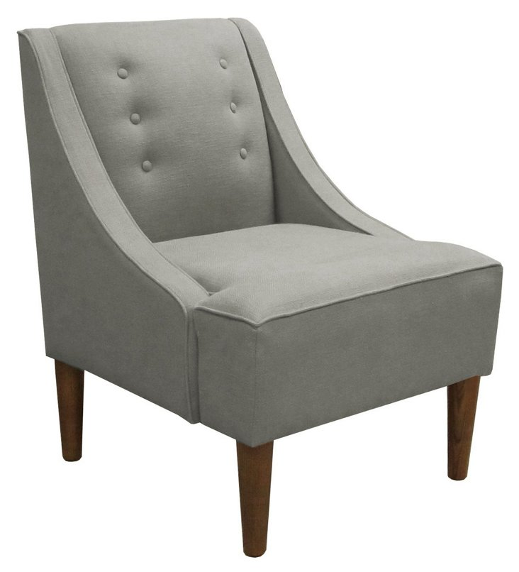 McCarthy Swoop-Arm Chair, Pewter