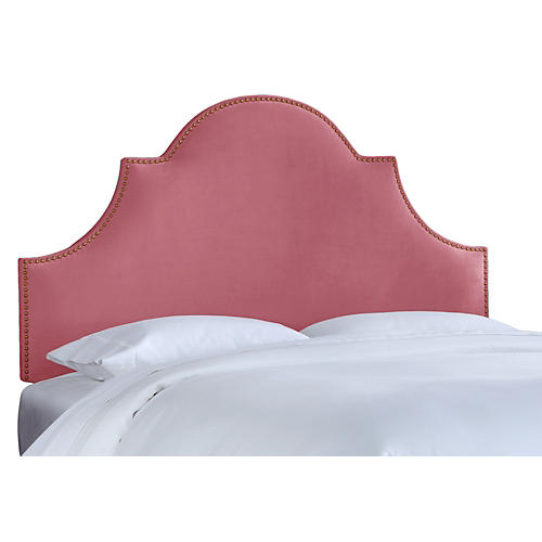 Hedren Headboard, Rose