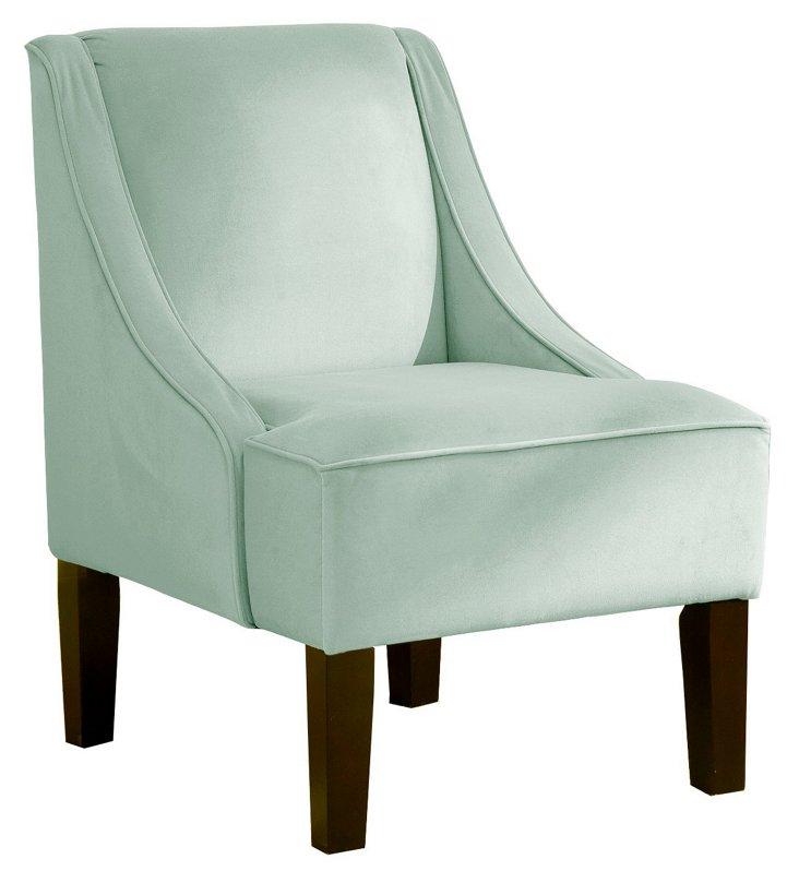 Fletcher Swoop-Arm Chair, Mist