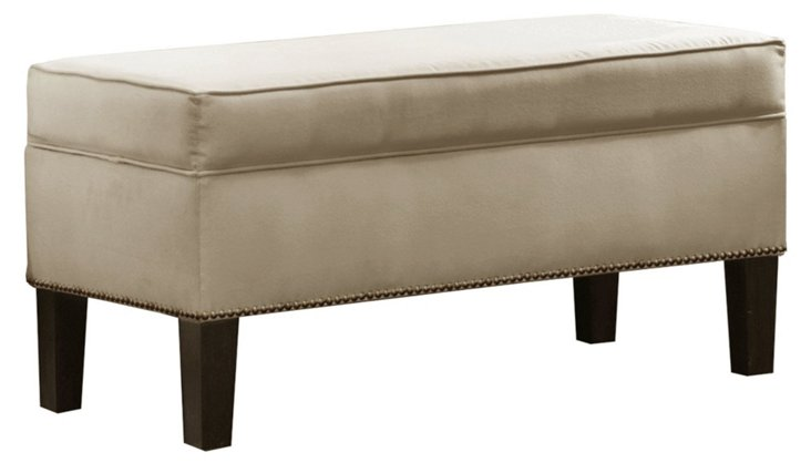 "Dunne 39"" Storage Bench, Oatmeal"