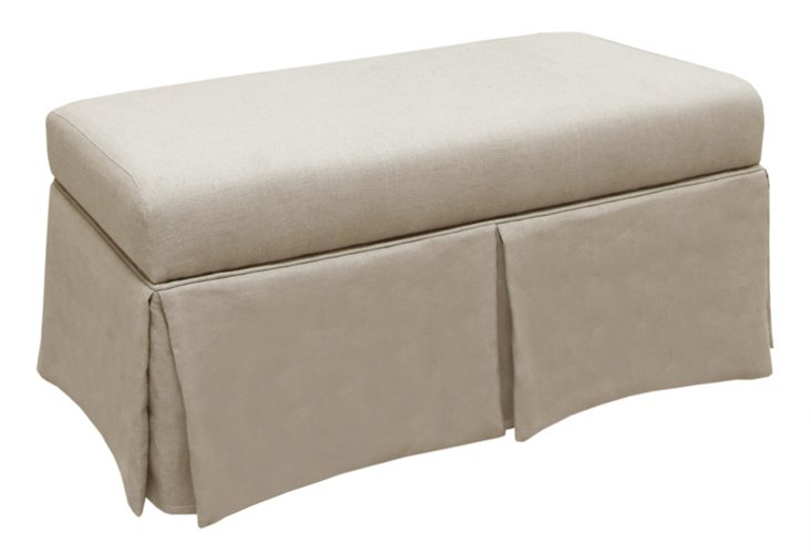 "Hayworth 38"" Storage Bench, Chalk"