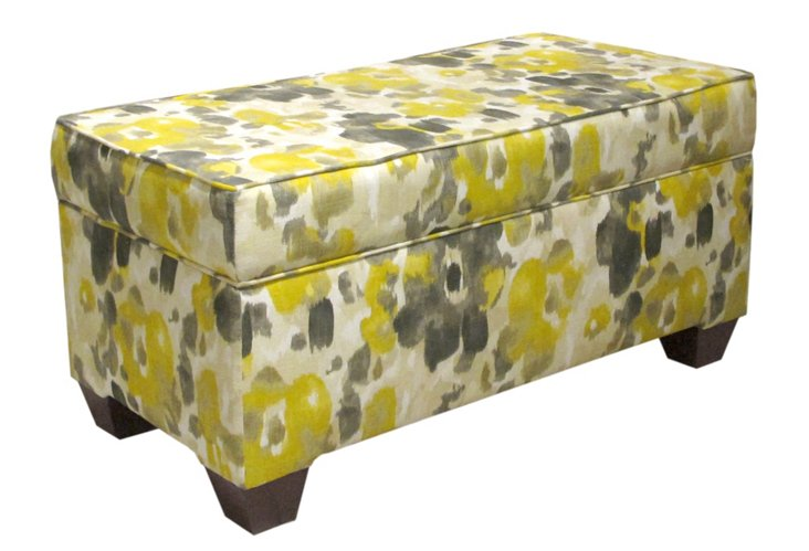 Arthur Storage Bench, Yellow/Gray