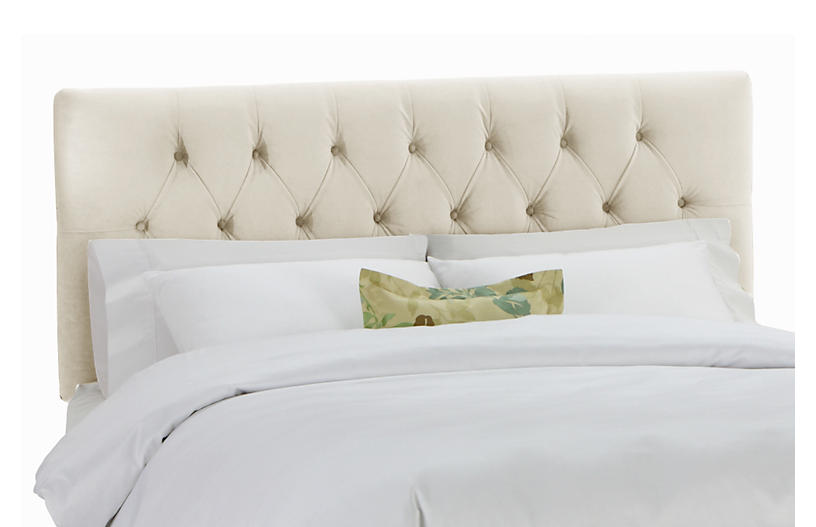 sneakers for cheap 71d54 e3917 Thea Tufted Headboard, Cream Velvet