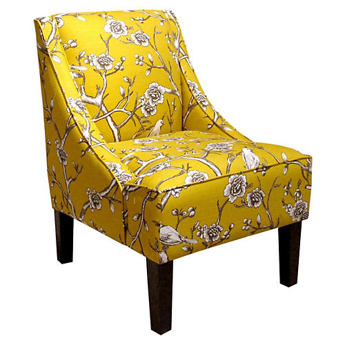Fletcher Swoop-Arm Chair, Marigold